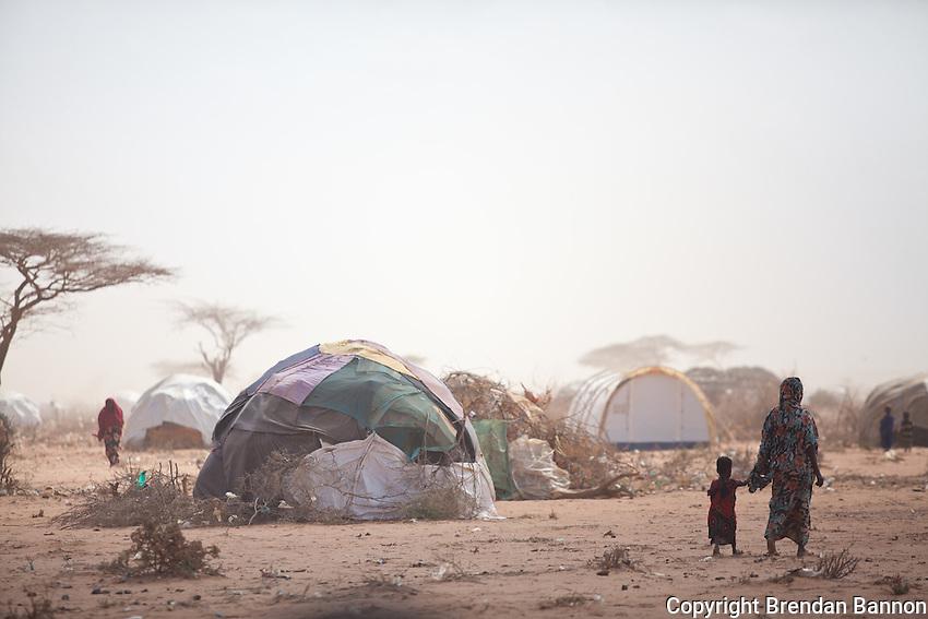 Fierce winds create dust storms in Dadaab refugee camp in Kenya. The last rains were 13 months ago in June 2010.