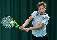 Wateringen, The Netherlands, March 9, 2018,  De Rijenhof , NOJK 12/16 years, Fons van Sambeek (NED)<br /> Photo: www.tennisimages.com/Henk Koster
