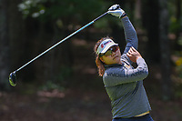 Wichanee Meechai (THA) watches her tee shot on 18 during round 1 of the U.S. Women's Open Championship, Shoal Creek Country Club, at Birmingham, Alabama, USA. 5/31/2018.<br /> Picture: Golffile | Ken Murray<br /> <br /> All photo usage must carry mandatory copyright credit (&copy; Golffile | Ken Murray)