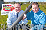 STAKES: Sean Quigley, sales rep with JFC Manufacturing and Jerry O'Connor, who launched the new stakes made from recycled plastic at O'Connor's Hardware and Farm Supplies in Duagh.   Copyright Kerry's Eye 2008