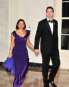 United States Ambassador to the United Nations Susan Rice and Ian Cameron arrive for the State Dinner in honor of President Hu Jintao of China at the White House In Washington, D.C. on Wednesday, January 19, 2011. .Credit: Ron Sachs / CNP