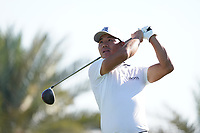 Ashun Wu (CHN) on the 9th during Round 1 of the Abu Dhabi HSBC Championship 2020 at the Abu Dhabi Golf Club, Abu Dhabi, United Arab Emirates. 16/01/2020<br /> Picture: Golffile | Thos Caffrey<br /> <br /> <br /> All photo usage must carry mandatory copyright credit (© Golffile | Thos Caffrey