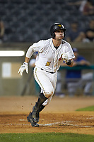 Ben Bengtson (5) of the West Virginia Power starts down the first base line during the game against the Lexington Legends at Appalachian Power Park on June 7, 2018 in Charleston, West Virginia. The Power defeated the Legends 5-1. (Brian Westerholt/Four Seam Images)