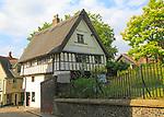 Britons Arms medieval building, Elm Hill cobbled lane street, Norwich, Norfolk, England, UK