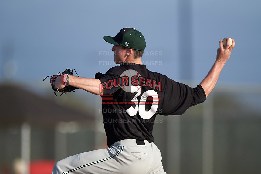 Plymouth State Panthers starting pitcher Taylor Doyle (30) delivers a pitch during the first game of a doubleheader against the Edgewood Eagles on March 17, 2016 at Lee County Player Development Complex in Fort Myers, Florida.  Plymouth State defeated Edgewood 6-5.  (Mike Janes/Four Seam Images)