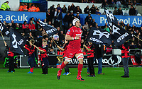 Scarlets' Will Boyde takes the pitch<br /> <br /> Photographer Ashley Crowden/CameraSport<br /> <br /> Guinness Pro14 Round 6 - Ospreys v Scarlets - Saturday 7th October 2017 - Liberty Stadium - Swansea<br /> <br /> World Copyright &copy; 2017 CameraSport. All rights reserved. 43 Linden Ave. Countesthorpe. Leicester. England. LE8 5PG - Tel: +44 (0) 116 277 4147 - admin@camerasport.com - www.camerasport.com