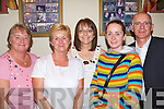 Celebrating The Mitchell's - Having a great night at the Celebration Night held in John Mitchell's GAA Clubhouse on Thursday night to mark the moving of the club to it's new home in Farmers Bridge were l-r: Jane Healy, Ellen Finnegan, Margaret Hanafin, Martina Fernane and Martin Conway.   Copyright Kerry's Eye 2008