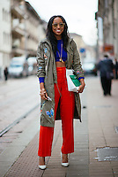 Shiona Turini at Milan Fashion Week (Photo by Hunter Abrams/Guest of a Guest)