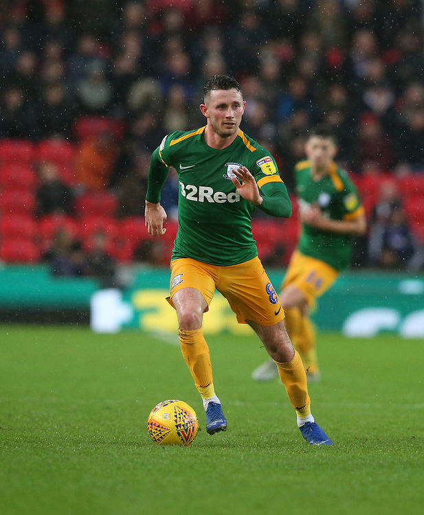 Preston North End's Alan Browne<br /> <br /> Photographer Stephen White/CameraSport<br /> <br /> The EFL Sky Bet Championship - Stoke City v Preston North End - Saturday 26th January 2019 - bet365 Stadium - Stoke-on-Trent<br /> <br /> World Copyright © 2019 CameraSport. All rights reserved. 43 Linden Ave. Countesthorpe. Leicester. England. LE8 5PG - Tel: +44 (0) 116 277 4147 - admin@camerasport.com - www.camerasport.com