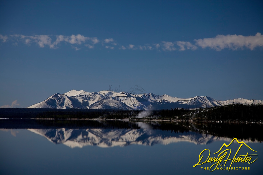 Reflection of Mt. Sheridan in Yellowstone Lake in Yellowstone National Park