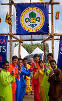 Ari Lanka Scouts in front of their gate in Winter town during cultural Festival. Photo: André Jörg/ Scouterna