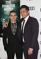 HOLLYWOOD, CA - NOVEMBER 12: Dave Franco and James Franco at the AFI Fest 2017 Centerpiece Gala Presentation of The Disaster Artist on November 12, 2017 at the TCL Chinese Theatre in Hollywood, California. <br /> CAP/MPIFS<br /> &copy;MPIFS/Capital Pictures