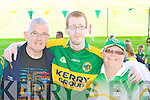 Mike Courtney, Nicolas Green and Eileen Green at the Kerry team training in Fitzgerald Stadium, Killarney on Saturday. .