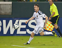 CARSON, CA - September 17, 2011: LA Galaxy forward Robbie Keane (14) during the match between LA Galaxy and Vancouver Whitecaps at the Home Depot Center in Carson, California. Final score LA Galaxy 3, Vancouver Whitecaps 0.