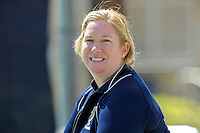 18 March 2012:  FIU Tennis Head Coach Melissa Applebaum-Dallau watches her players as the Columbia Lions defeated the FIU Golden Panthers, 5-2, at University Park in Miami, Florida.