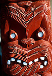 New Zealand: Maori carving, Rotorua, Whakarewarewa,  Photo: nzauk102.Photo copyright Lee Foster, www.fostertravel.com, 510/549-2202, lee@fostertravel.com