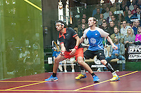 Mohamed Elshorbagy (EGY) vs. Gregory Gaultier (FRA) in the semifinals of the 2014 METROsquash Windy City Open held at the University Club of Chicago in Chicago, IL on March 2, 2014