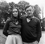 Ted Hughes and wife Carol Orchard, 1970s