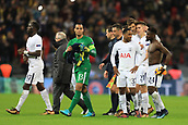 6th December 2017, Wembley Stadium, London England; UEFA Champions League football, Tottenham Hotspur versus Apoel Nicosia; Tottenham Hotspur players celebrate qualifying top of their group