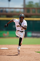 Bradenton Marauders Oneil Cruz (13) running the bases during a Florida State League game against the Charlotte Stone Crabs on April 10, 2019 at LECOM Park in Bradenton, Florida.  Bradenton defeated Charlotte 2-1.  (Mike Janes/Four Seam Images)