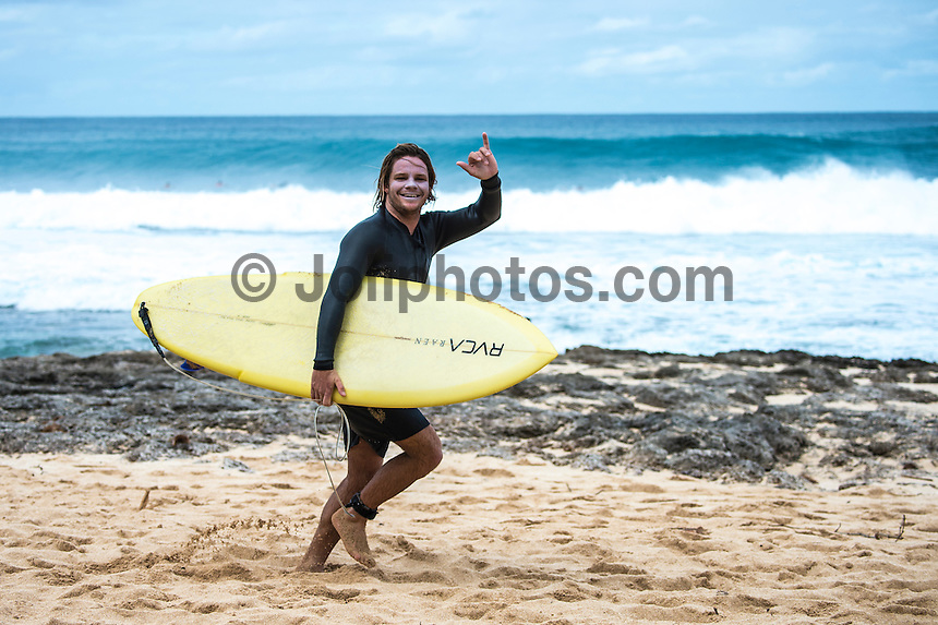 Rocky Point, North Shore of Oahu, Hawaii.  December 4 2014) Ellis Ericson (AUS) - The surf was in the 4'-6' range at Rocky Point today with a bumpy   NW swell and light winds. Photo: joliphotos.com