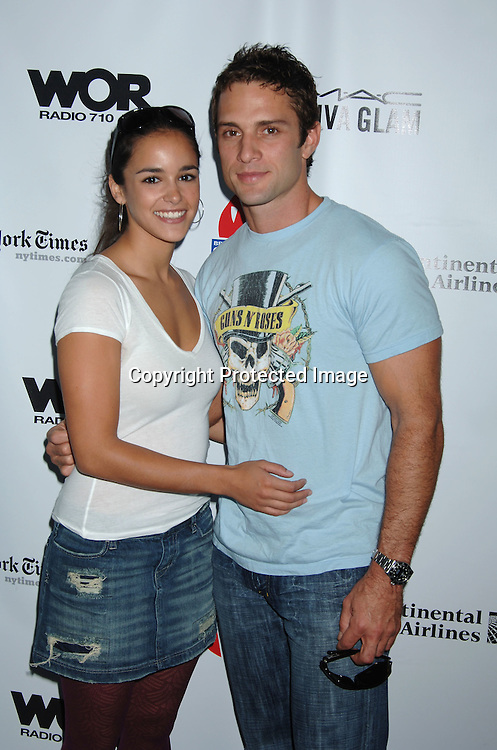 Melissa Gallo and David Fumero of One Life to Live..at The 20th Annual Broadway Cares/Equity Fights Aids Broadway Flea Market, Celebrity Autograph Table and Grand Auction on September 24, 2006 at Shubert Alley...Robin Platzer, Twin Images