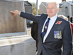 Jim Donaldson pictured at the annual memorial cermony at the Cenotaph. Photo: Colin Bell/pressphotos.ie