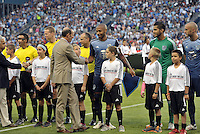 Sporting Park, Kansas City, Kansas, July 31 2013:<br /> Commissioner Don Garber introduced to the players.<br /> MLS All-Stars were defeated 3-1 by AS Roma at Sporting Park, Kansas City, KS in the 2013 AT & T All-Star game.