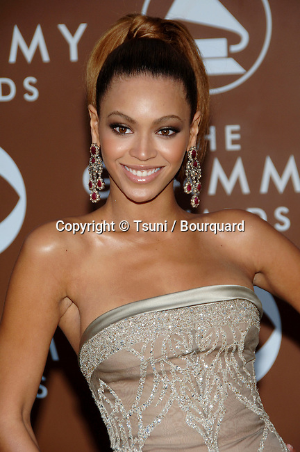 Beyonce Knowles arriving at the 48th Grammy Awards at the <br /> Staples Center In Los Angeles, Wednesday February 8, 2006
