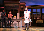 Eric Anderson takes a bow at the curtain call of Broadway's 'Waitress' at The Brooks Atkinson Theatre on November 3, 2017 in New York City.