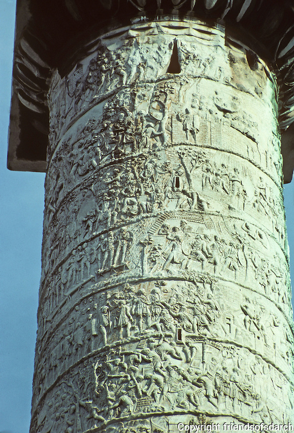 Italy: Rome--Trajan's Column, detail.  Photo '82.