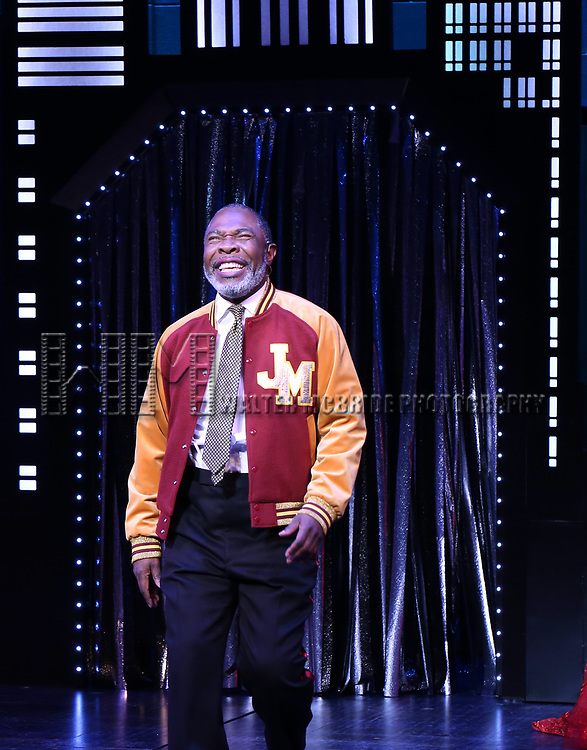 """Michael Potts during the Broadway Opening Night Curtain Call of """"The Prom"""" at The Longacre Theatre on November 15, 2018 in New York City."""