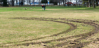 Tire tracks at Canatara Park and Mike Weir Park. Brandon Bechard and Jacob Hart, light hat.