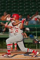 Alex Castellanos of the Palm Beach Cardinals during the game at Jackie Robinson Ballpark in Daytona Beach, Florida on July 30, 2010. Photo By Scott Jontes/Four Seam Images