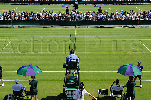 26.06.2012 The All England Lawn Tennis and Croquet Club. London, England. View across the higher numbered outside courts