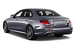 Car pictures of rear three quarter view of a 2018 Mercedes Benz E Class Base 4 Door Sedan angular rear