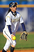 13 February 2010:  FIU's Jessy Alfonso (8) fields a ground ball as the FIU Golden Panthers defeated the University of Illinois (Chicago) Flames, 2-1, at the University Park Stadium in Miami, Florida.