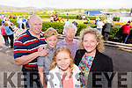 Mark McEvoy, Alison McEvoy, Darragh McEvoy, PJ Hayes and Shirley McEvoy.  at the Kerry International Horse Racing at Ballybeggan Race Track on Sunday dedicated to the memory of John Browne