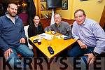 Enjoying the Kerry Coral Union Fundraiser Table Quiz at Stokers Lodge on Friday were JJ Canty, Helen Cooper, Brendan McCarthy and Pat Sheehy