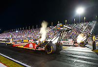 Sep 2, 2016; Clermont, IN, USA; NHRA top fuel driver Doug Kalitta during qualifying for the US Nationals at Lucas Oil Raceway. Mandatory Credit: Mark J. Rebilas-USA TODAY Sports