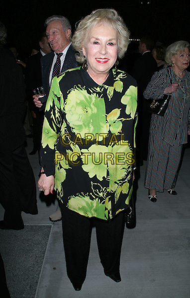 DORIS ROBERTS .Screen Actors Guild and the Deane F. Johnson Alzheimer's Research Foundation host Fundraiser held at Catalina Jazz Club, Los Angeles, California, USA, 22 August 2008. .full length floral print jacket black and green .CAP/ADM/FS.©Faye Sadou/Admedia/Capital Pictures