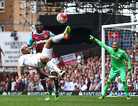 Andre Ayew of Swansea in action during todays match    during the Barclays Premier League match between West Ham United and Swansea City  played at Boleyn Ground , London on 7th May 2016