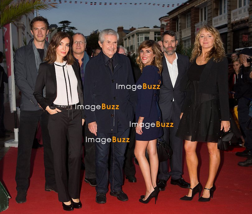 James D'Arcy, Anne Parillaud, Eric Lagesse, Claude Lelouch, Victoria Bedos , Jail Lespert &amp; Julie Ferrier, lors de la soir&eacute;e d'ouverture du 27&egrave;me Festival du film britannique de Dinard. <br /> France, Dinard, 29 septembre 2016.<br /> Opening night of 27th Edition of the Dinard British Film Festival.<br /> France, Dinard, 29 September 2016.
