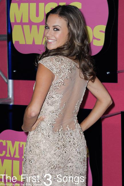 Jana Kramer attends the 11th Annual CMT Awards in Nashville, TN on June 6, 2012.
