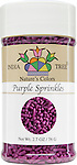 10824 Nature's Colors Purple Sprinkles, Small Jar 2.7 oz