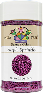 10824 Nature's Colors Purple Sprinkles, Small Jar 2.7 oz, India Tree Storefront