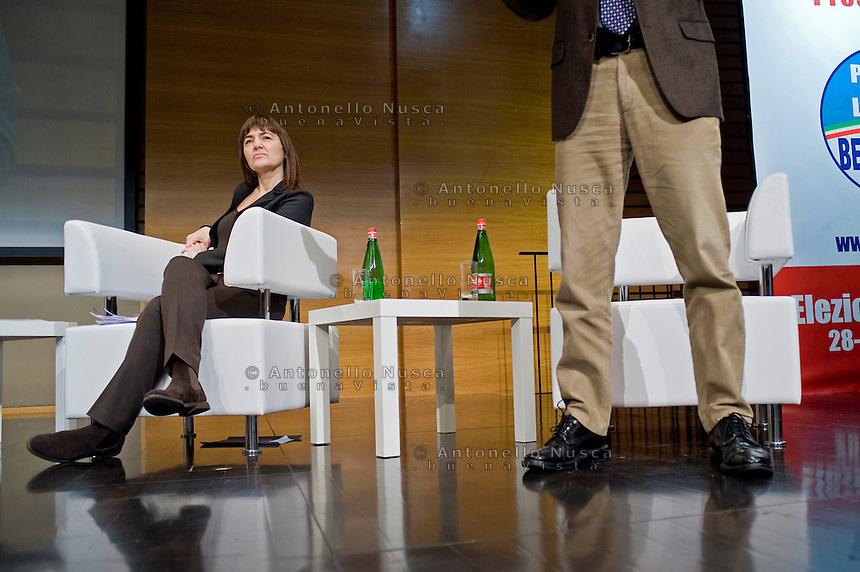 Roma, 27 Gennaio, 2010. Renata Polverini durante la sua campagna elettorale per le elezioni regionali