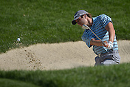 Bethesda, MD - June 28, 2014: Andrew Loupe plays a shot from the bunker on hole 3 in the third round of the Quicken Loans National at the Congressional Country Club in Bethesda, MD, June 28, 2014.  (Photo by Don Baxter/Media Images International)