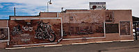 Murals painted on the side of a building in Holbrook Arizona on Route 66.