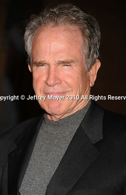 """HOLLYWOOD, CA. - April 19: Warren Beatty  arrives at the Los Angeles Premiere of """"Mother And Child"""" at the Egyptian Theatre on April 19, 2010 in Hollywood, California."""